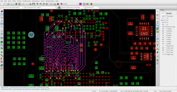 Printed Circuit Board Routing kicad